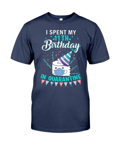 11th Birthday in Quarantined Shirts
