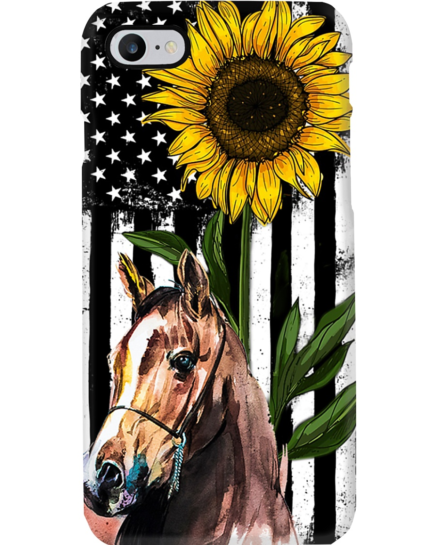 Farm Case - Beautiful Sunflower with Horse Phone Case