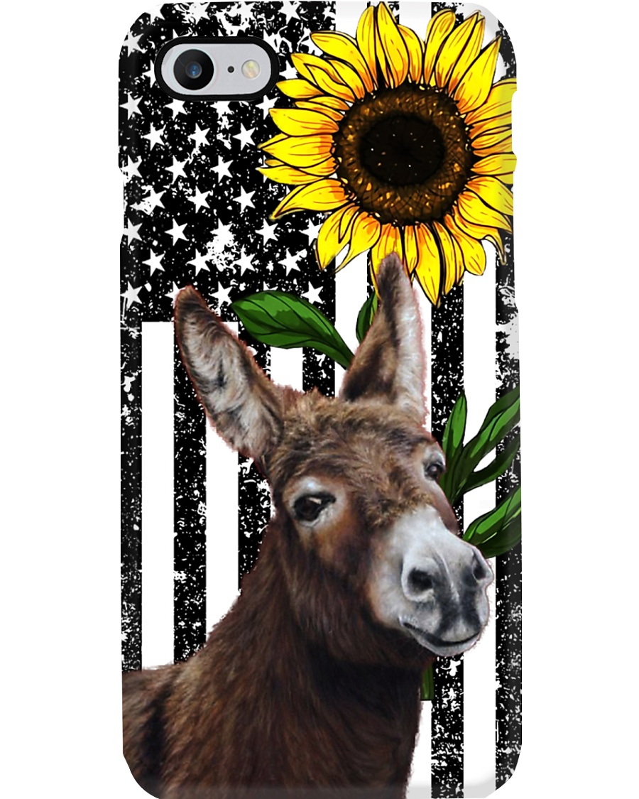 Farm Case - Beautiful Sunflower with Donkey Phone Case
