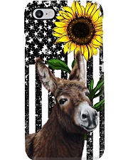 Farm Case - Beautiful Sunflower with Donkey Phone Case i-phone-7-case