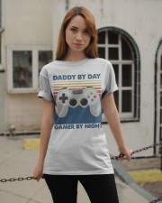 Funny Family Daddy By Day Gamer By Night Classic T-Shirt apparel-classic-tshirt-lifestyle-19