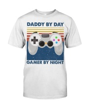 Funny Family Daddy By Day Gamer By Night Classic T-Shirt front