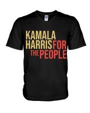 Kamala harris For The People V-Neck T-Shirt thumbnail