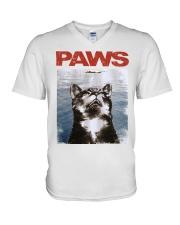 Cat Paws Jaws Shirt V-Neck T-Shirt thumbnail