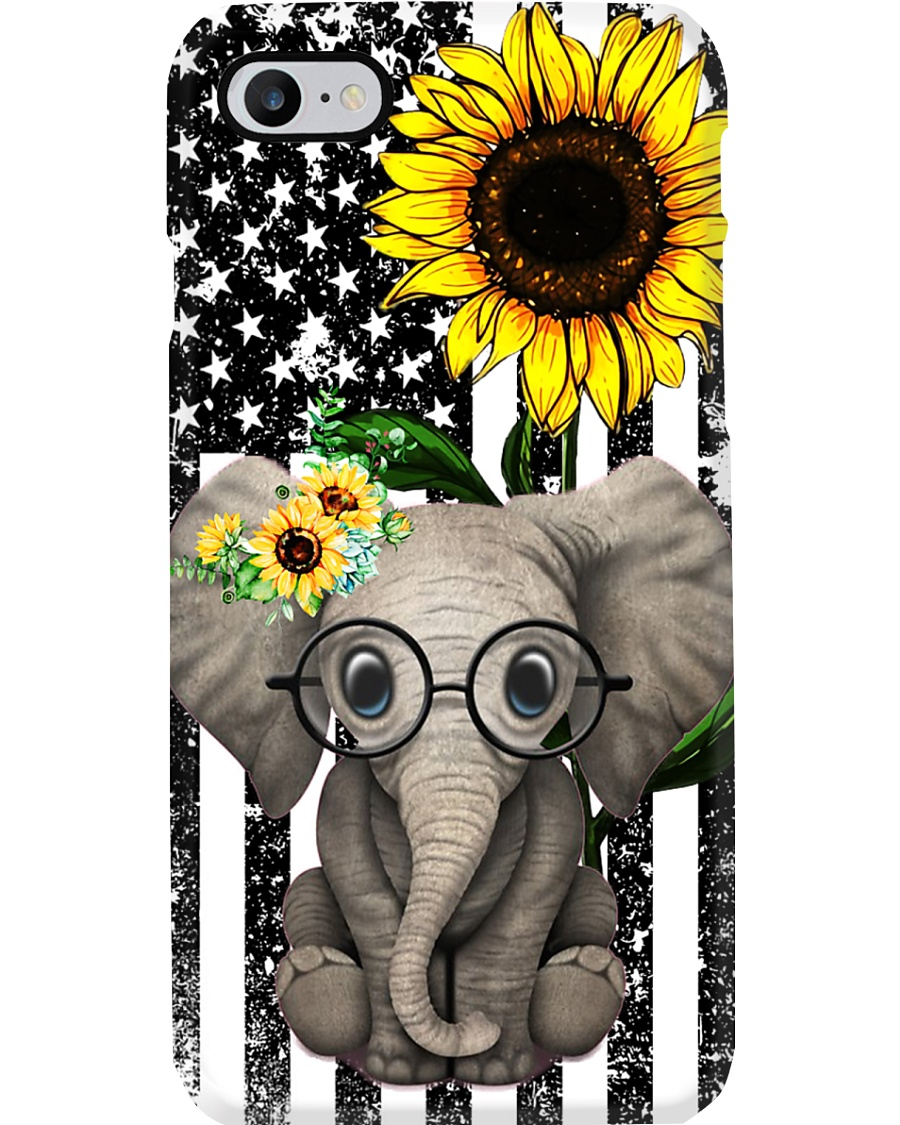 Farm Case - Beautiful Sunflower with Elephant Phone Case