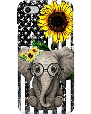 Farm Case - Beautiful Sunflower with Elephant Phone Case i-phone-7-case