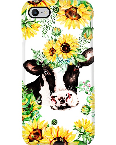 Farm Case - Beautiful Sunflower with Cow 2