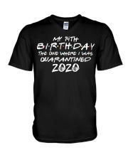 Quarantine Birthday 14th V-Neck T-Shirt thumbnail