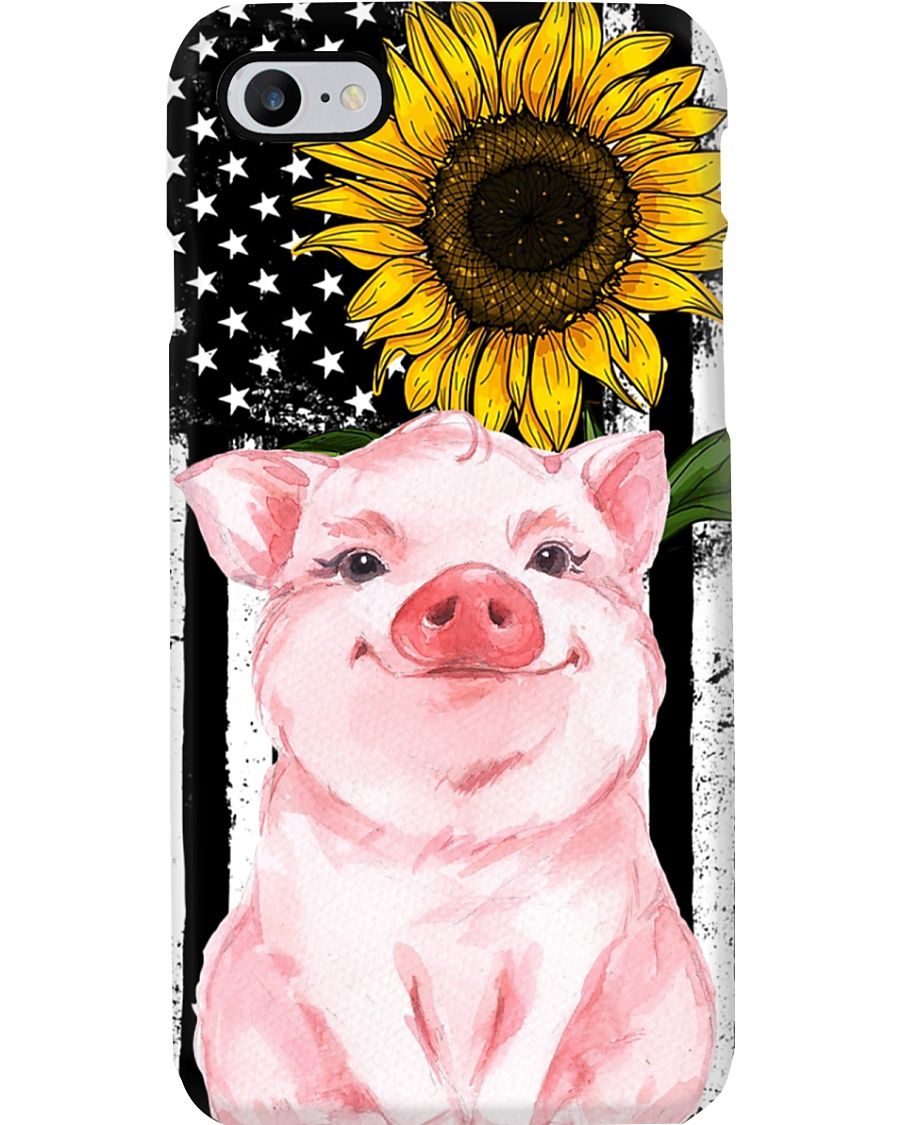 Farm Case - Beautiful Sunflower with Pig Phone Case