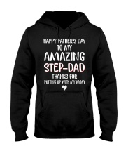 Happy Father's Day To My Amazing Step Dad Hooded Sweatshirt thumbnail