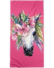 Unicorn Flower Beach Towel Premium Beach Towel front