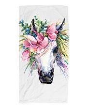 Unicorn Flower Beach Towel Beach Towel thumbnail
