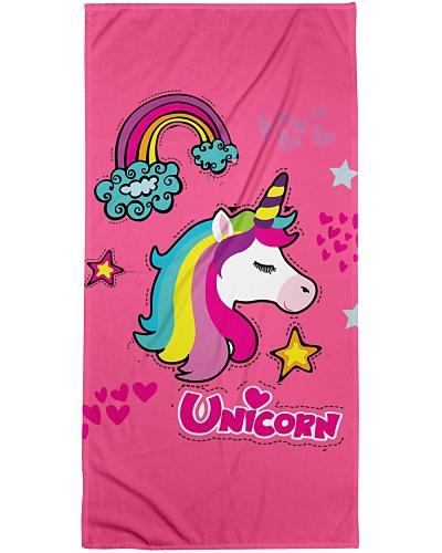 Unicorn Beach Towel Rainbow