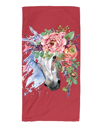 Unicorn Beach Flower Head Towel