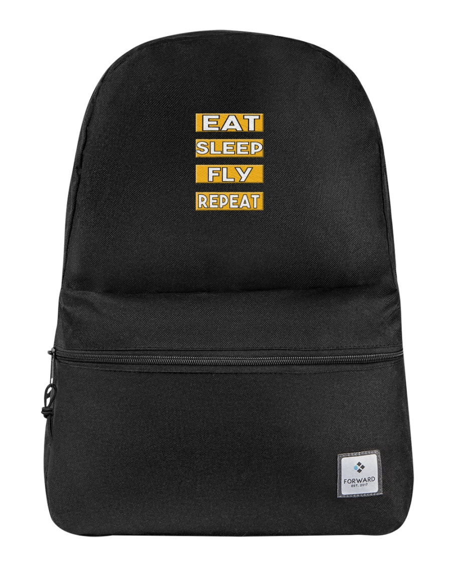 Pilot eat sleep fly repeat Backpack