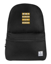 Pilot eat sleep fly repeat Backpack front