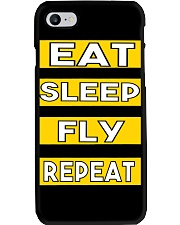 Pilot eat sleep fly repeat Phone Case thumbnail