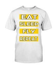 Pilot eat sleep fly repeat Classic T-Shirt tile
