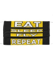 Pilot eat sleep fly repeat Cloth face mask thumbnail