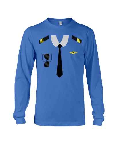 Airplane Pilot Costume Funny Aviation Tee