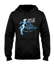 I Know I Ski Like A Girl T-Shirt - Skiing T Hooded Sweatshirt thumbnail