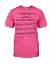 Alice In Wonderland Book Page Lover Reader R Classic T-Shirt front