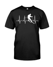 Ski T Shirt - Skier Gifts  Heartbeat  Classic T-Shirt front