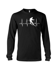 Ski T Shirt - Skier Gifts  Heartbeat  Long Sleeve Tee tile