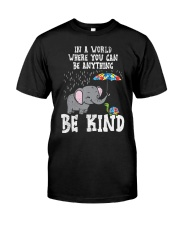In A World Be Kind Cute Elephant Turtle Umbr Classic T-Shirt front