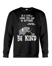 In A World Be Kind Cute Elephant Turtle Umbr Crewneck Sweatshirt thumbnail