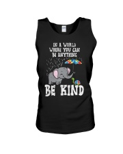 In A World Be Kind Cute Elephant Turtle Umbr Unisex Tank thumbnail
