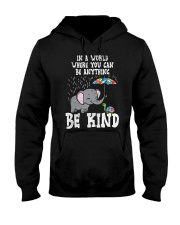 In A World Be Kind Cute Elephant Turtle Umbr Hooded Sweatshirt thumbnail