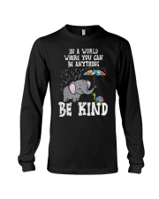 In A World Be Kind Cute Elephant Turtle Umbr Long Sleeve Tee thumbnail