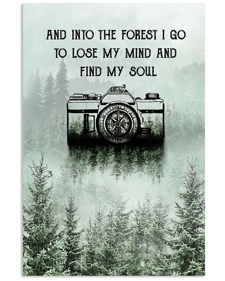 Snow Forest Lose My Mind Camera Photography 11x17 Poster