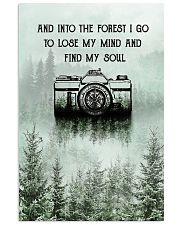 Snow Forest Lose My Mind Camera Photography 11x17 Poster front