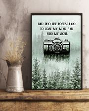 Snow Forest Lose My Mind Camera Photography 11x17 Poster lifestyle-poster-3