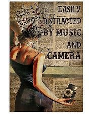 Camera Lady Easily Distracted By Music 16x24 Poster front