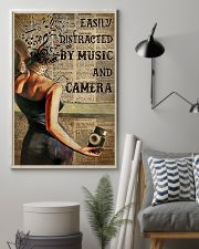 Camera Lady Easily Distracted By Music 16x24 Poster lifestyle-poster-1