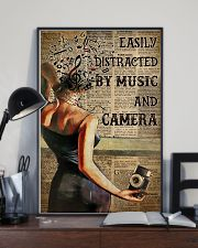 Camera Lady Easily Distracted By Music 16x24 Poster lifestyle-poster-2