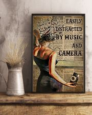 Camera Lady Easily Distracted By Music 16x24 Poster lifestyle-poster-3