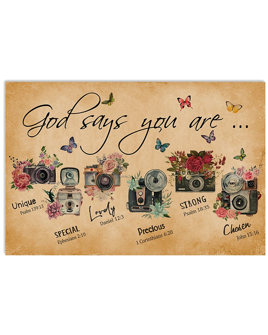 God Say You Are Flower Camera 24x16 Poster