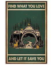 Retro Green Find What You Love Camera 11x17 Poster front