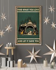 Retro Green Find What You Love Camera 11x17 Poster lifestyle-holiday-poster-1