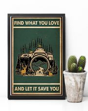 Retro Green Find What You Love Camera 11x17 Poster lifestyle-poster-8