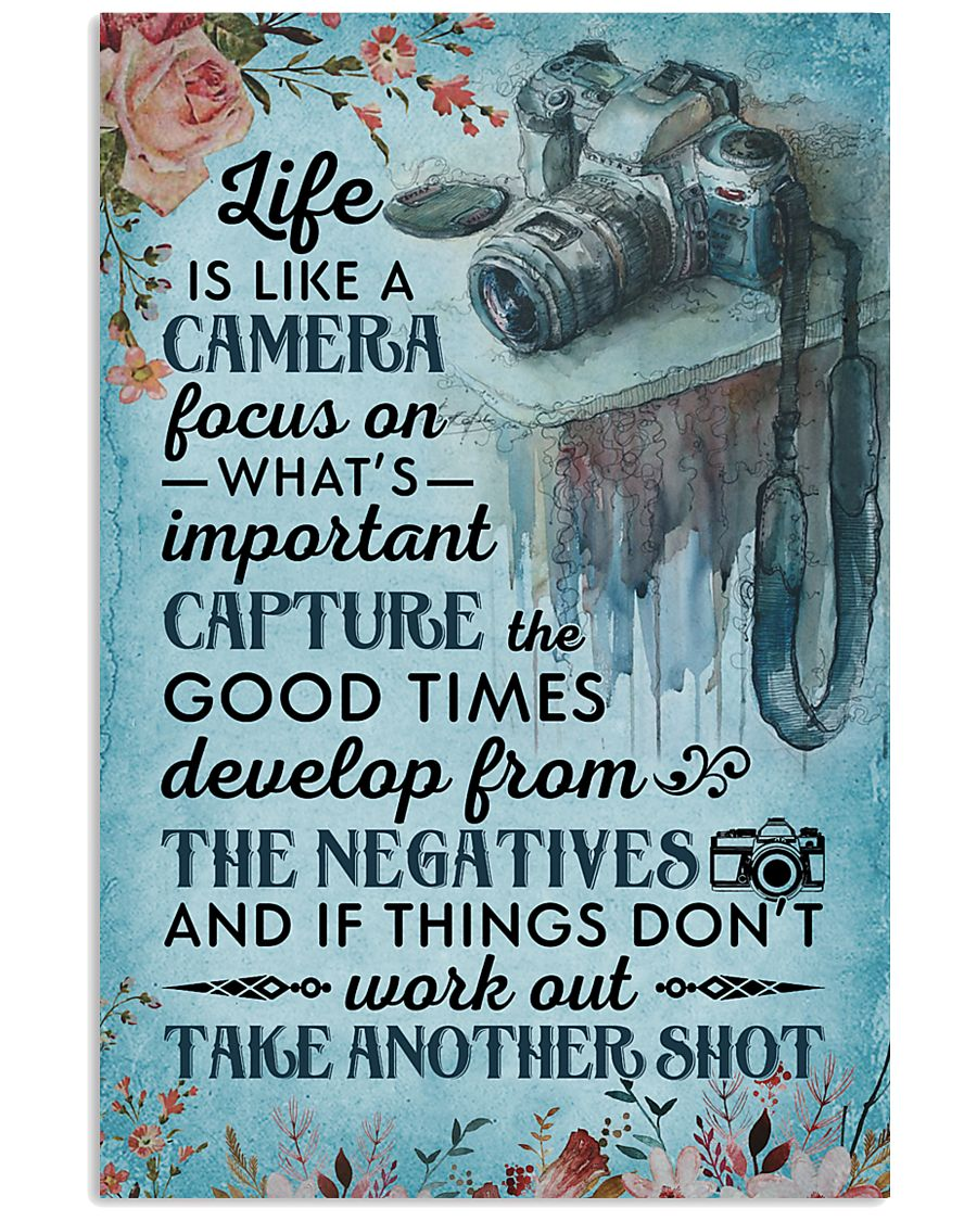 Classic Blue Life Is A Camera 11x17 Poster