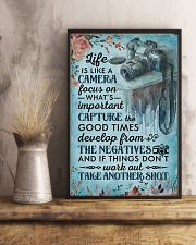 Classic Blue Life Is A Camera 11x17 Poster lifestyle-poster-3