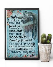 Classic Blue Life Is A Camera 11x17 Poster lifestyle-poster-8