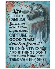 Classic Blue Life Is A Camera 16x24 Poster front