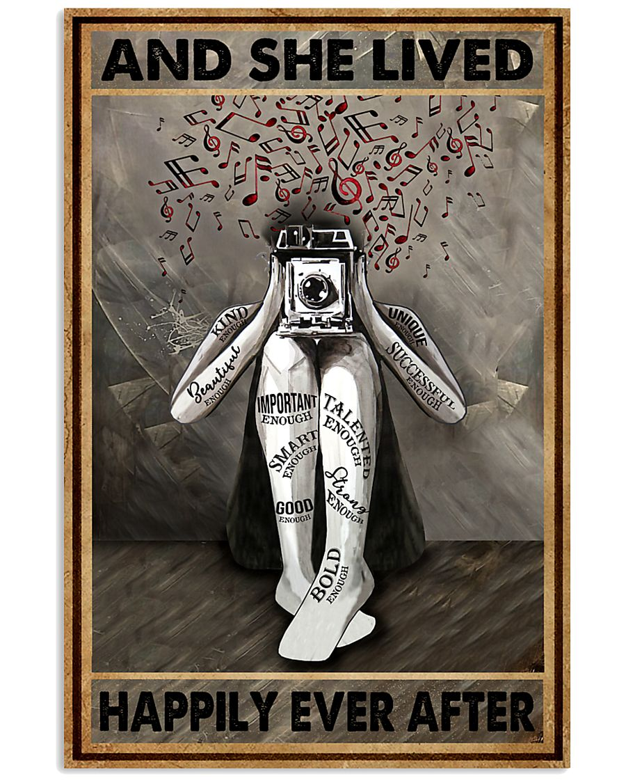 And She Lived Happily Ever After Photography 16x24 Poster