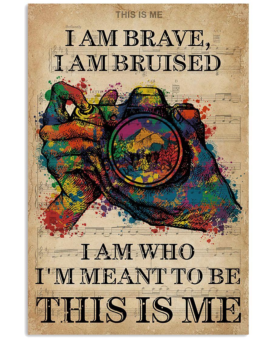 Vintage Music I Am Brave Pride Camera 11x17 Poster